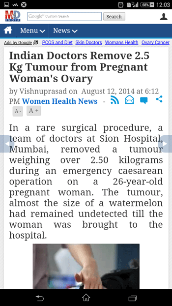 Huge Ovarian Tumour in a Pregnancy Excised during Emergency Caesarean Section
